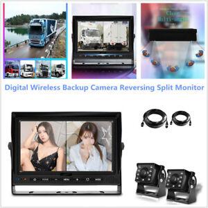 "Truck Digital 7"" Monitor Backup Camera Reversing HD Split Monitor Record DVR Kit"