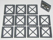 LEGO LOT OF 12 NEW DARK BLUISH GREY 1 X 6 X 5 SUPPORT PILLARS PIECES