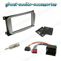 Double DIN Oval Silver Facia Fascia for Ford Car Radio CD Stereo Fitting Kit