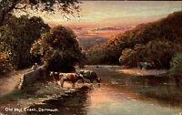Dartmouth England Devon 1907 Old Mul Creek Painting Gemälde Dart Series gelaufen