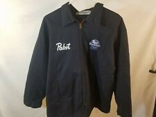 New listing 2Xl Pabst Pbr Work Beer Delivery Guy Jacket Embroidered front with Backpatch