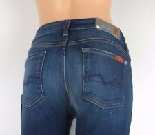NWT 7 SEVEN FOR ALL MANKIND, The Mid Rise Skinny, SIMV, Size 25, $198