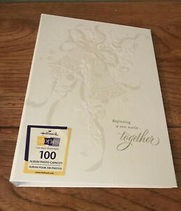 New Vintage Hallmark Keepsake Wedding Photograph Album - White Embossed
