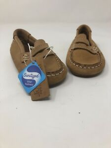 Zara Baby Beige brown Suede Moccasins loafers size 20 Piel leather NWT NEW