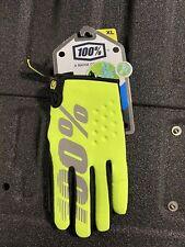 100% MX Motocross Men's BRISKER Cold-Weather Gloves (Yellow/Black) XL (X-Large)