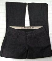 Guess Modele Flare Jeans Womens Size 28 Black Dress Pants Trousers Cotton