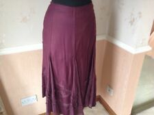 M&S Calf Length Polyester Plus Size Skirts for Women