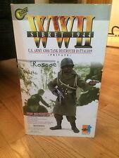 """MEDICOM LIFE ACTION FIGURE """"ROSCOE"""" WW2 SIBRET 1944!!!!"""
