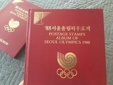 RARE COMPLETE 1ST EDITION SEOUL KOREA 1988 OLYMPICS POSTAGE STAMP ALBUM