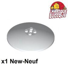 Lego - 1x Dish disque radar 8x8 blanc/white 3961 NEUF