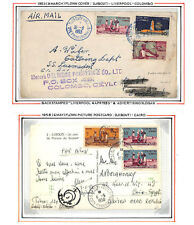 LB71 1953/8 FRANCE COLONIES *Somali Coast* Covers{2} Album Page ex Collection