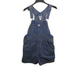 Vintage Ck Calvin Klein Bib Overall Shorts Women's Size M Light Wash Overalls