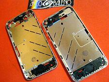 Kit COVER GUSCIO CHASSIS RICAMBIO per APPLE IPHONE 4S CENTRALE CORNICE METALLO