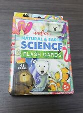 Eeboo Natural & Science Flash Cards NEW Educational Supplies Kids School