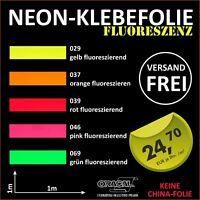 1m x 1m Signalfarben Neon Plotterfolie Neon Folie Markierung Boot Auto Aufkleber