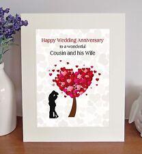 Cousin & sa femme mariage Anniversaire Cadeau Loving autoportante PHOTO MONTAGE