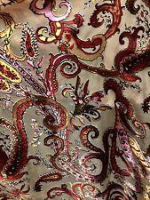Designer Burnout 100% Silk Chiffon Fabric - By the yard