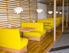 Fixed seating, chair, table, sofa, booth, restaurant, bespoke banquette seating