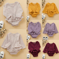 Newborn Infant Baby Girl Romper Dress Jumpsuit Bodysuit Casual Clothes Outfit GU