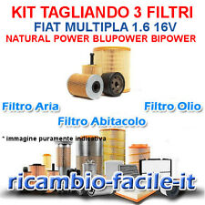KIT TAGLIANDO FILTRI UFI FIAT MULTIPLA 1.6 BIPOWER BLUPOWER NATURAL POWER 1600