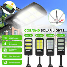 Solar LED Street Light Commercial Outdoor Security Road Motion Sensor W/Pole @