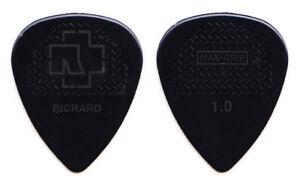 Rammstein Richard Z. Kruspe Signature Black Molded Guitar Pick - 2017 Tour