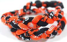 """18"""" Digital Camo Rope Titanium Sport Necklace Orange Black Gray Tornado Baseball"""