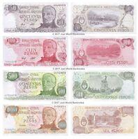 Argentina 1,5,10,50 Pesos Argentinos Uncirculated Banknotes SET-A16