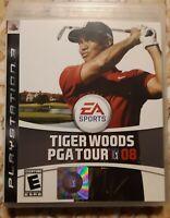 PS3 PlayStation 3 Tiger Woods PGA Tour 08 Golf Game