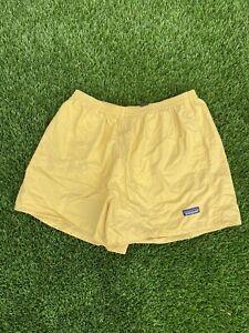Mens Vintage Patagonia Lemon Yellow Baggies Shorts L