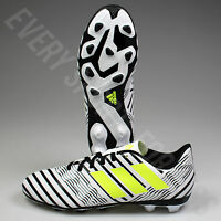 Adidas Nemeziz 17.4 FxG Junior Soccer Cleats S82459 - White/Yellow/Black (NEW)