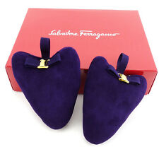 Auth Salvatore Ferragamo Shoe keeper Valara ribbon Womens Men''s Yes used P637