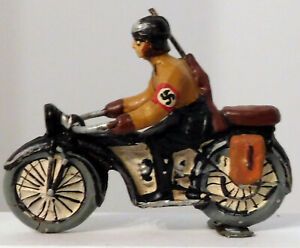 Elastolin German Composition Soldier on Motorcycle #1