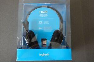 Logitech H600 Wireless RF Stereo Headset - Black