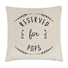 Reserved For Pops Cushion Cover Pillow - Funny Grandad