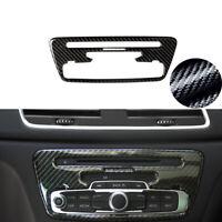 For Audi Q3 2014-2018 Carbon Fiber Center Console CD Panel Frame Cover Trim