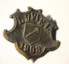 1903 ancien broche MEDAILLE insigne COLMAR LV.VIEL L.V.V.I.E.L alsace 68 ELSASS