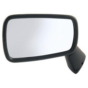 """Classic Mini Door mirror LH 3 x 5.5"""" Plastic Black 1980-2000  part no JPC9849"""