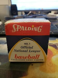 VINTAGE SPALDING OFFICIAL NATIONAL LEAGUE WARREN GILES BASEBALL SEALED IN BOX