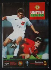 Programm Europacup 1993/94 Manchester United - Galatasaray Istanbul