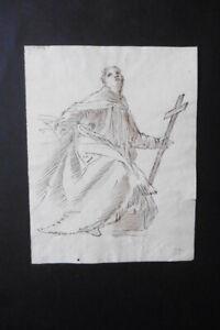 ITALIAN-VENETIAN SCHOOL 18thC - RELIGIOUS SCENE WITH SAINT CIRCLE DIZIANI - INK