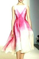 New NWT Lela Rose Kaleidoscope Ombre Silk Organza Cocktail Dress IT 42 / US 6
