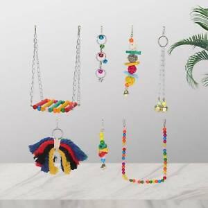 7 stk Papageienspielzeug Wellensittich Hängematte Schaukel Spielzeug Set