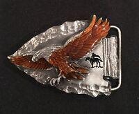 Vintage BELT BUCKLE~Siskiyou~Eagle 1988  NEW ~ Z80