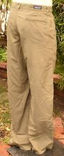 PATAGONIA LIGHTWEIGHT PACKABLE DUSTY OLIVE NYLON PANTS UPF US M'S SZ 38