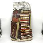 Piero Fornasetti 1997 Cat on Books Metal Umbrella Stand Panel *READ DESCRIPTION