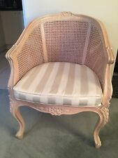 French Provincial Louis Timber Frame Wicker Chair Armchair