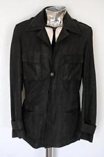 Trussardi Deerskin Leather Safari Jacket Blue EU48 Medium RRP£1945 coat buckskin