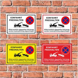 Schild - Parken verboten - Einfahrt freihalten - in 4 Größen - S00020G