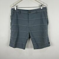 Rip Curl Mens Board Shorts 34 Grey Striped Pockets